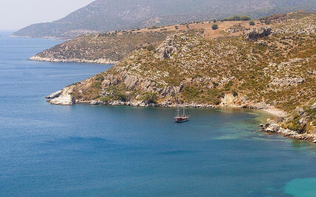 Die ägäische Küste der Türkei Izmir